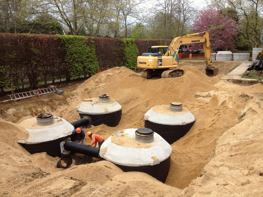 Parking Lot Drainage Installation