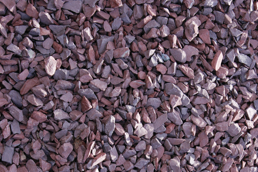 Gravel choices south fork asphalt for Red stone landscape rock